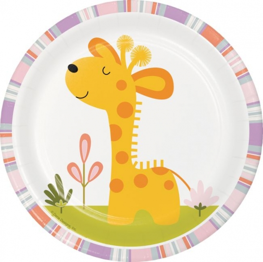Napkins and Table Covering Party Bundle for 8 Paper Art Giraffe Plates