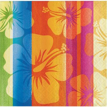 Sunset Stripes Hibiscus Beverage Napkins Low Count  sc 1 st  Party at Lewis & Sunset Stripes Hibiscus Beverage Napkins Low Count: Party at Lewis ...