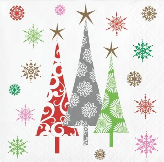 Contemporary Christmas Tree.Contemporary Christmas Trees Beverage Napkins