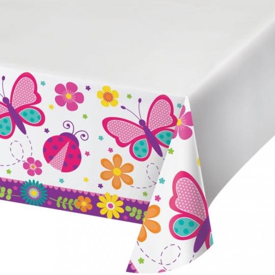 Butterfly Garden Plastic Tablecloth