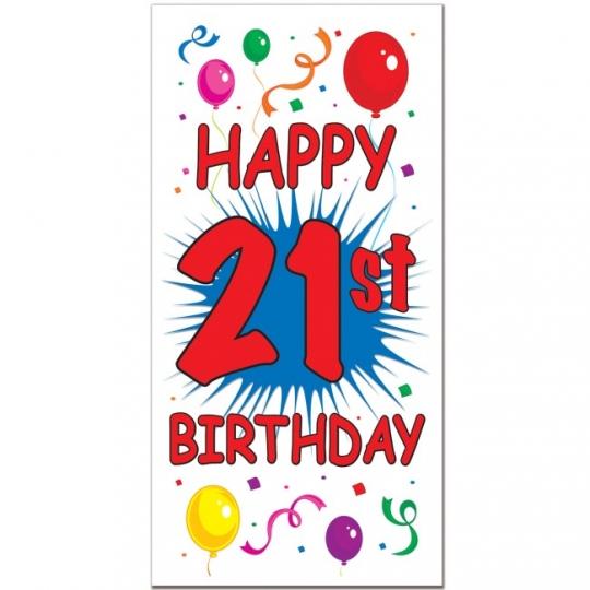 Happy 21st Birthday Images.Happy 21st Birthday Door Cover