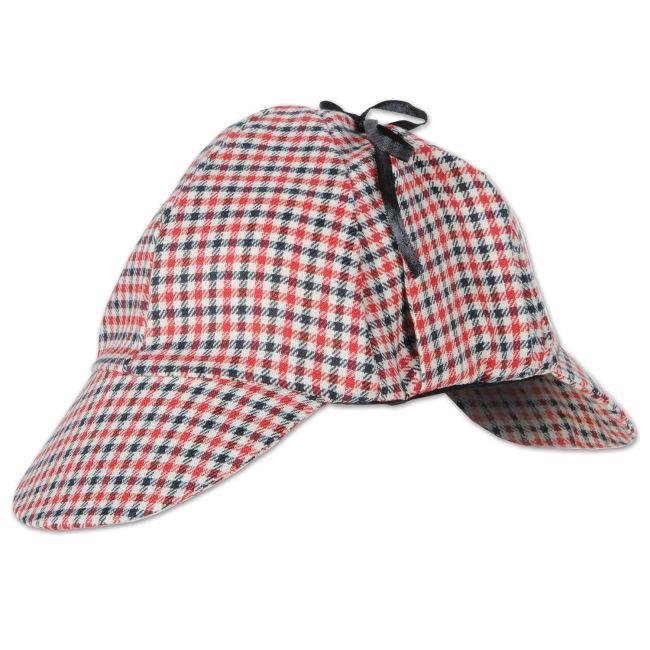 04d5637648f53 Sherlock Holmes Deerstalker Hat  Party at Lewis Elegant Party Supplies