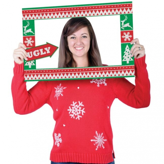 Funny Ugly Christmas Sweater.Ugly Christmas Sweater Photo Fun Frame