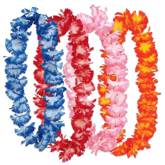 Hawaiian Leis Colorful Assortment 50 pk