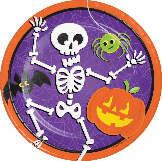 8 pack Halloween House of Fright 9-inch Paper Plates