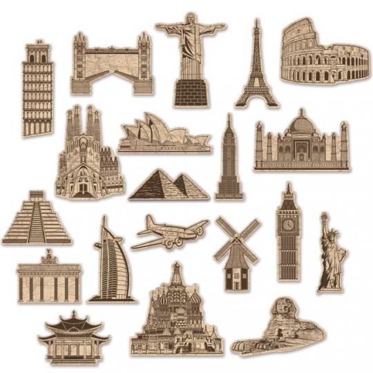 Around The World Cutouts