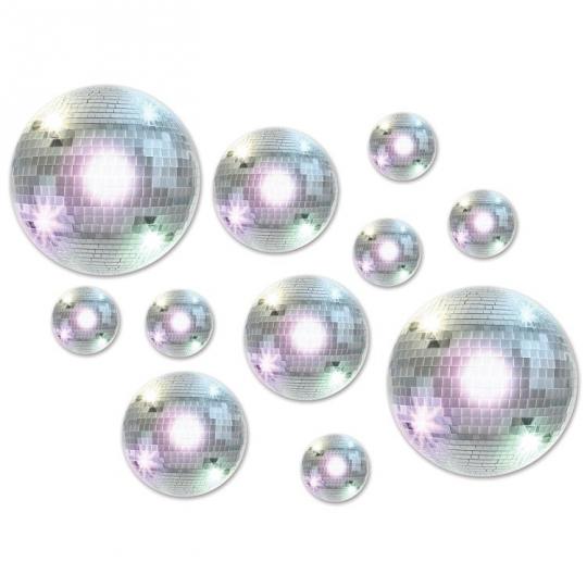 Pack of 6 Disco Ball Cascade Centerpiece