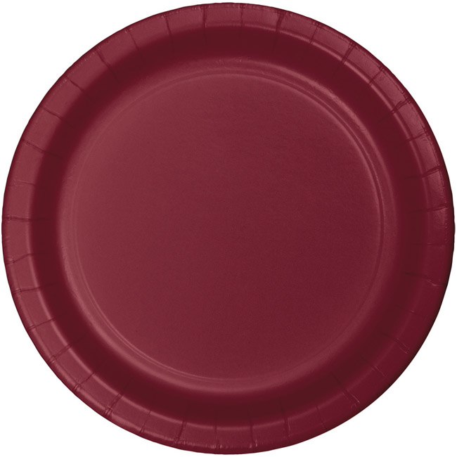 Burgundy Heavy Duty 7 Inch Paper Plates Burgundy Paper