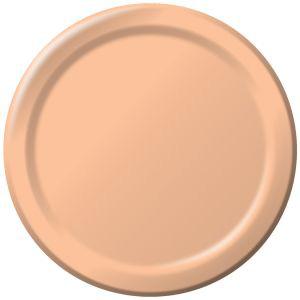 Heavy Duty 9 Inch Paper Plates Peach