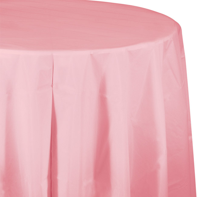 Pink Plastic Round Tablecloth  sc 1 st  Party at Lewis & Pink Plastic Round Tablecloth: Party at Lewis Elegant Party Supplies ...