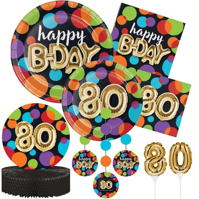 Gold Balloon 80th Birthday