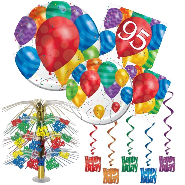 95th Birthday Party At Lewis Elegant Supplies Plastic