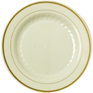 Masterpiece Ivory Gold Trim Premium 9-inch Plastic Plates  sc 1 st  Party at Lewis & Masterpiece plastic plates - Party at Lewis