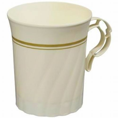 Masterpiece Ivory Gold Trim 8-oz Plastic Coffee Cups  sc 1 st  Party at Lewis & Masterpiece Ivory Gold Trim 8-oz Plastic Coffee Cups: Party at Lewis ...