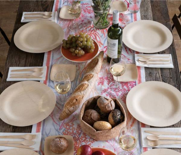 Veneerware Bamboo Dinnerware & Veneerware Bamboo Dinnerware: Party at Lewis Elegant Party Supplies ...