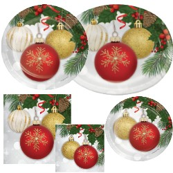 Christmas Paper Plates And Napkins.Ornament Elegance Paper Plates Napkins Party At Lewis