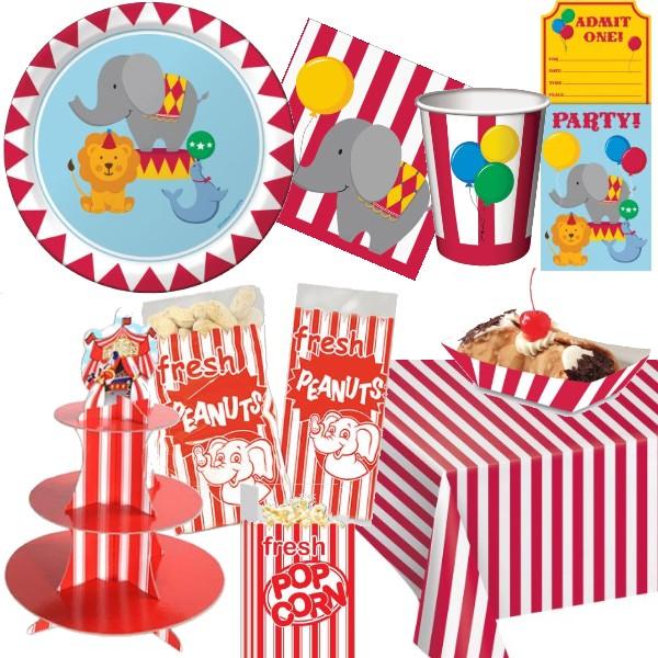 Circus Tableware  sc 1 st  Party at Lewis & Circus Tableware: Party at Lewis Elegant Party Supplies Plastic ...