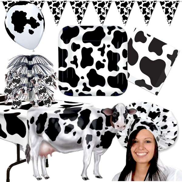 cow print: party at lewis elegant party supplies, plastic dinnerware ...