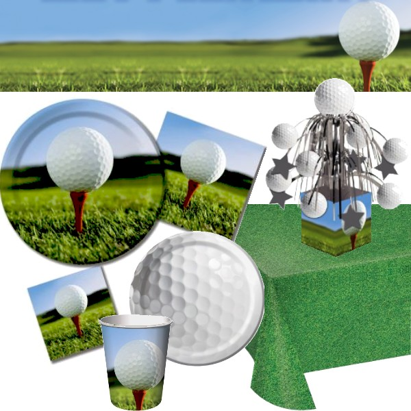 Golf & Golf: Party at Lewis Elegant Party Supplies Plastic Dinnerware ...