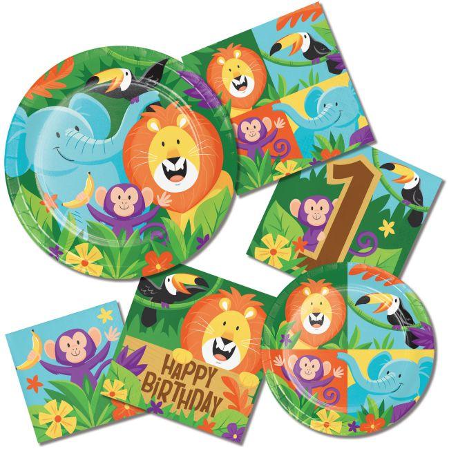 Loot Bags 1st Birthday Boys Balloons 8 Pk: Jungle Safari Loot Bags Favor Bag 8 Pack 1st Birthday
