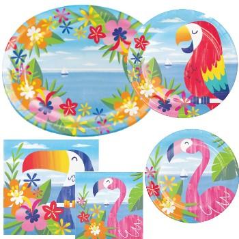 Flamingo Pom-Pom Headband Party Favors Decorations Luau Hawaiian Party Supplies