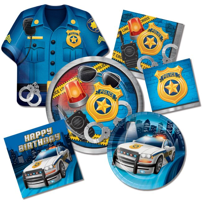 Police Birthday Party  sc 1 st  Party at Lewis & Police Birthday Party: Party at Lewis Elegant Party Supplies ...