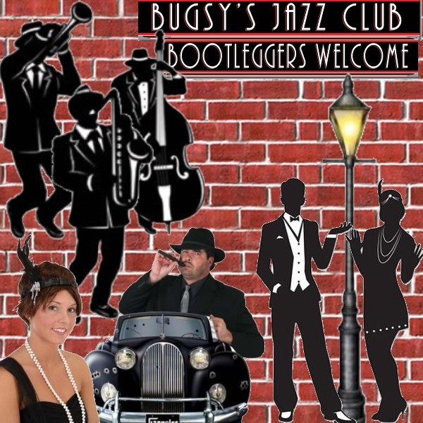 Roaring 1920s Gangster Props Silhouettes 20s Party Wall ...