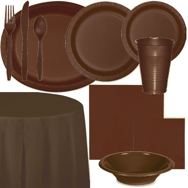 Brown Paper and Plastic Dinnerware & Brown Paper and Plastic Dinnerware: Party at Lewis Elegant Party ...