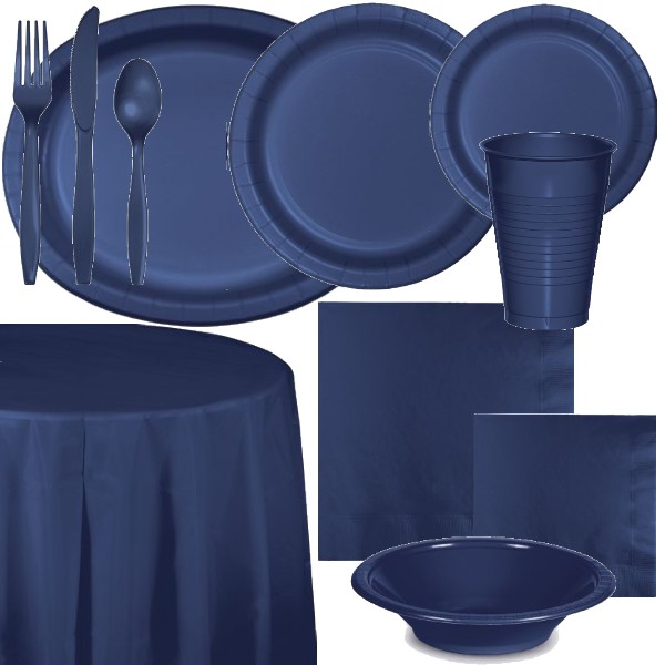 Navy Blue Paper and Plastic Dinnerware & Navy Blue Paper and Plastic Dinnerware: Party at Lewis Elegant Party ...