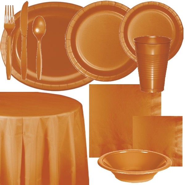 Pumpkin Spice Paper and Plastic Dinnerware & Pumpkin Spice Paper and Plastic Dinnerware: Party at Lewis Elegant ...