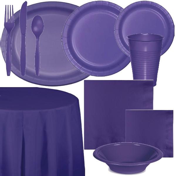 Purple Paper and Plastic Dinnerware & Purple Paper and Plastic Dinnerware: Party at Lewis Elegant Party ...