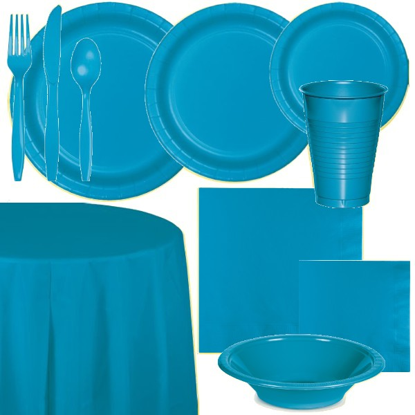 Turquoise Paper and Plastic Dinnerware  sc 1 st  Party at Lewis & Turquoise Paper and Plastic Dinnerware: Party at Lewis Elegant Party ...