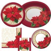 Christmas Paper Plates And Napkins.Christmas Insta Theme Santa S Work Shop Room Decoration Kit
