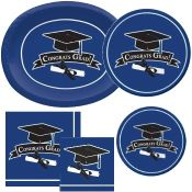 Blue Graduation party supplies and decorations
