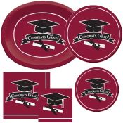 Burgundy Graduation party supplies and decorations