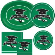Green Graduation party supplies and decorations
