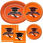 Orange Graduation party supplies and decorations