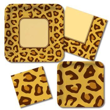 Animal Print Leopard  sc 1 st  Party at Lewis & Animal Print Leopard: Party at Lewis Elegant Party Supplies Plastic ...