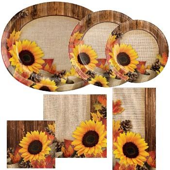 Autumn Sunflower Crafts Paper Plates u0026 Napkins & Autumn Sunflower Crafts Paper Plates u0026 Napkins: Party at Lewis ...