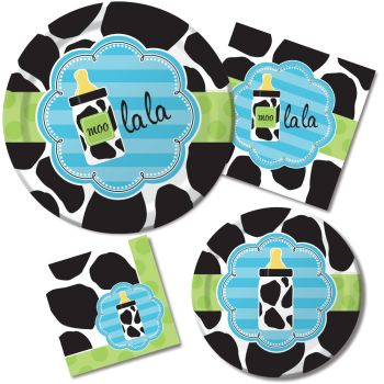 Baby Shower Cow Print Boy Party At Lewis Elegant Party Supplies