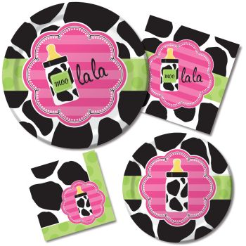 Baby Shower Cow Print Girl