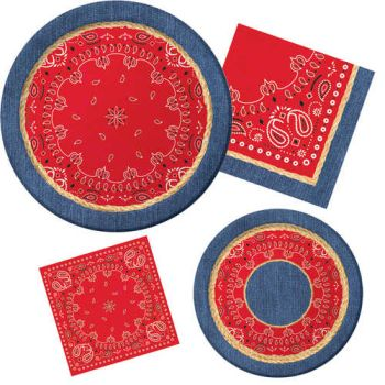 Bandanarama Paper Plates u0026 Napkins  sc 1 st  Party at Lewis & Bandanarama Paper Plates u0026 Napkins: Party at Lewis Elegant Party ...