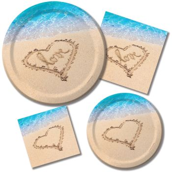 Beach Love Party at Lewis Elegant Party Supplies Plastic Dinnerware Paper Plates and Napkins  sc 1 st  Party at Lewis & Beach Love: Party at Lewis Elegant Party Supplies Plastic ...
