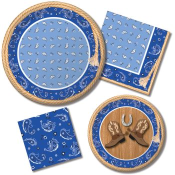 Blue Bandana Paper Plates u0026 Napkins  sc 1 st  Party at Lewis & Blue Bandana Paper Plates u0026 Napkins: Party at Lewis Elegant Party ...