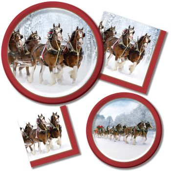 Clydesdales Paper Plates & Napkins