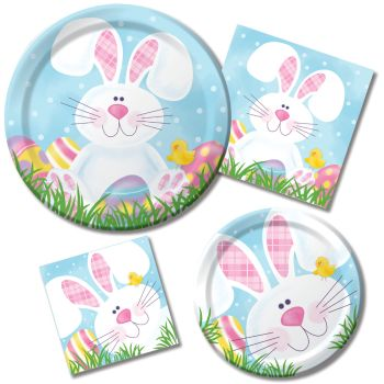 Cottontail Fun Paper Plates & Napkins