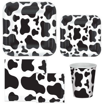 Cow Print Party Supplies  sc 1 st  Party at Lewis & Baby Cow Print Boy - Party at Lewis Elegant Party Supplies Plastic ...