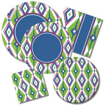Diamond Ikat Paper Plates u0026 Napkins  sc 1 st  Party at Lewis & Diamond Ikat Paper Plates u0026 Napkins: Party at Lewis Elegant Party ...