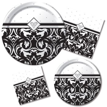 Ever After Party at Lewis Elegant Party Supplies Plastic Dinnerware Paper Plates and Napkins  sc 1 st  Party at Lewis & Ever After: Party at Lewis Elegant Party Supplies Plastic ...