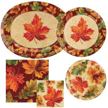Fall Flourish Paper Plates u0026 Napkins & Fall Flourish Paper Plates u0026 Napkins: Party at Lewis Elegant Party ...